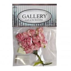 Хартиени обемни цветя розови