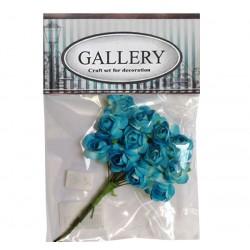 Хартиени обемни цветя сини