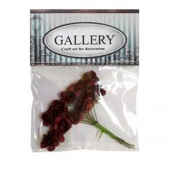 Хартиени обемни цветя бордо