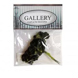 Хартиени обемни цветя черно