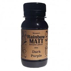 Àêðèëíà áîÿ Quasart Rainbow matt 60ml 12.094 Òúìíî ëèëàâî