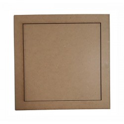 Дървена рамка за декорации Квадрат 21 см.