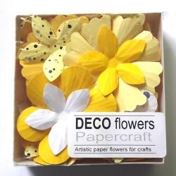 "Релефни хартиени цветя 40 бр. - ""Слънчево настроение"""