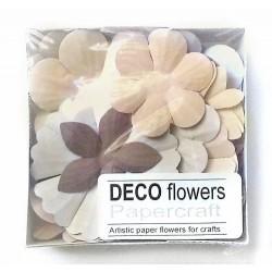 """Релефни хартиени цветя 40 бр. - """"Капучино"""""""
