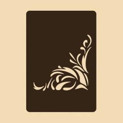 Шаблон за декорация - Флорален мотив 3, Craftabilia