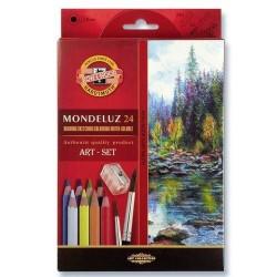Акварелни моливи Mondeluz 24 +