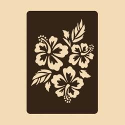 Шаблон за декорация - Хибискуси, Craftabilia