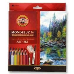 Акварелни моливи Mondeluz 36 +