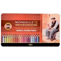 Акварелни моливи Mondeluz 72 метална кутия