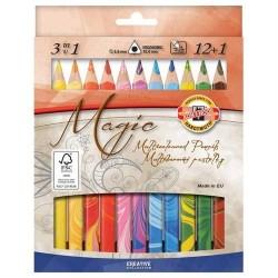 Магически цветни моливи Triocolor 12 + цвята