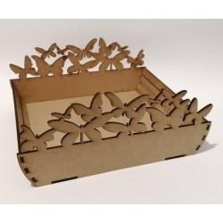 Дървен модел сглобяем панера Пеперуди