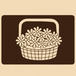 Шаблон за декорация Craftabilia - Кошница с цветя