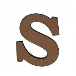 Дървена буква латиница шрифт 3 - 5 см. S