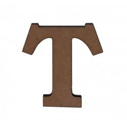 Дървена буква латиница шрифт 3 - 5 см. T