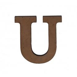 Дървена буква латиница шрифт 3 - 5 см. U