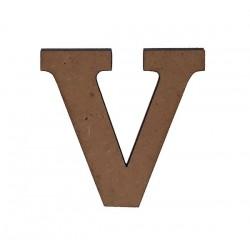 Дървена буква латиница шрифт 3 - 5 см. V