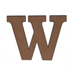 Дървена буква латиница шрифт 3 - 5 см. W