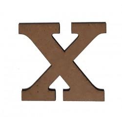 Дървена буква латиница шрифт 3 - 5 см. X