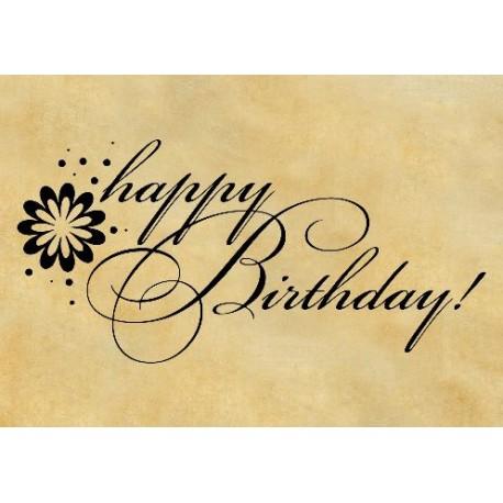 """Печат """"Happy Birthday"""" BG"""