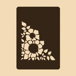 Шаблон за декорация - Градински цветя, Craftabilia