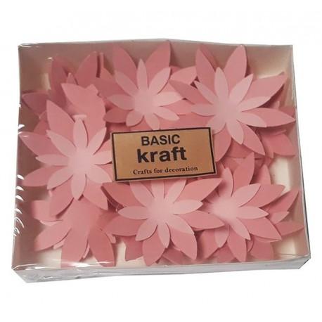 Хартиени цветя Basic kraft Lotus 21 бр. - Розово