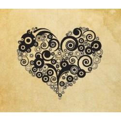 """Печат """"Сърце кръгове"""""""