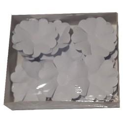 Хартиени цветя Dorothy 30 бр. - Големи Бели