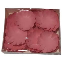Хартиени цветя Elegance 30 бр. - Големи Тъмно розови