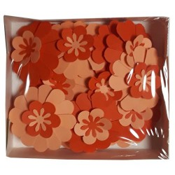 Хартиени цветя Bloom 21 бр. - Големи микс Оранжеви