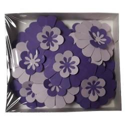 Хартиени цветя Bloom 21 бр. - Големи микс Лилави